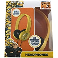 Despicable Me 3 Minions Headphones Kid Safe Adjustable Over-Ear Volume Limiting