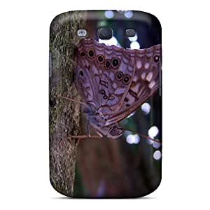 [PfpgvYB6096uSEKU]premium Phone Case For Galaxy S3/ Spotted Butterfly Tpu Case Cover