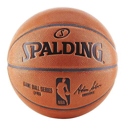 Spalding NBA Replica Indoor/Outdoor Game Ball, Orange, Size 7/29.5 Inch
