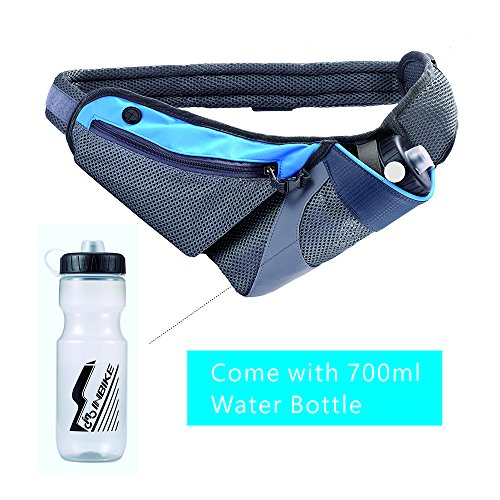 YAPA Running Belt Hydration Waist Pack with Water Bottle Holder for Men Women Waist Come with Water Bottle Pouch Fanny Bag Reflective Fits iPhone 6/7 - Malaysia Running Gear