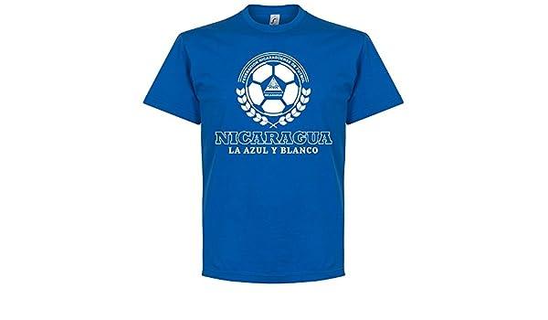 Nicaragua Crest - Camiseta, color royal, unisex, azul real, XS: Amazon.es: Deportes y aire libre