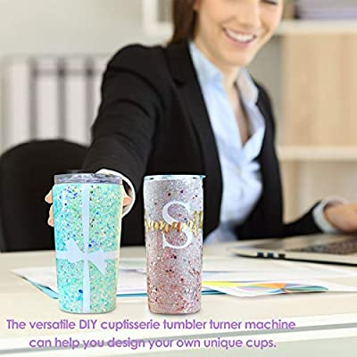 Tumbler Turner for Crafts Made with Solid Aluminum Cup and Tumbler Spinner Machine with Electric Motor No Foam Required Cup Turner for Tumblers by KELJUN Premium Quality Cup Tumbler Machine