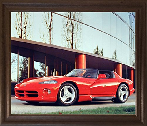 Impact Posters Gallery 1992 Dodge Viper Greg Smith Sports Car Wall Decor Brown Rust Framed Picture Art Print ()