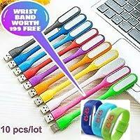 ZED BONE Flexible Portable Bendable USB LED Lights Combo - Pack of 10