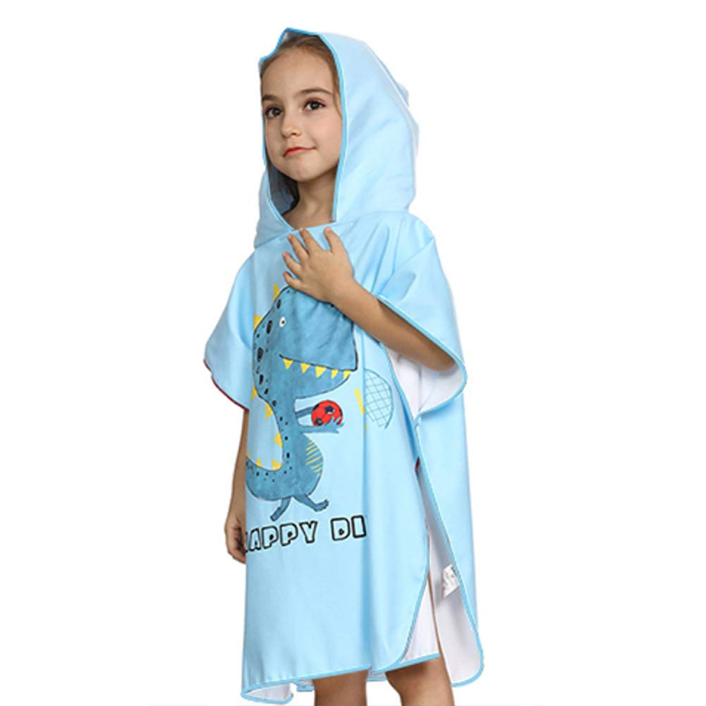 Kinder Poncho Achort Kapuzen Badetuch Bademantel Schwimmen Strand Tuch Weich Trocknend Cartoon 66 65cm f/ür 3-8 Jahre M/ädchen Jungen