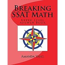 Breaking SSAT Math Upper level: Answer Book