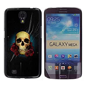Shell-Star Arte & diseño plástico duro Fundas Cover Cubre Hard Case Cover para Samsung Galaxy Mega 6.3 / I9200 / SGH-i527 ( Skull Rose Night Space Death Stars )