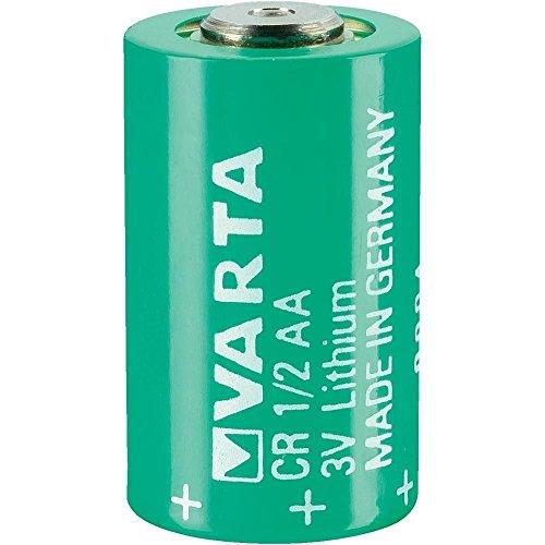 VARTA CR 1/2 AA Series Lithium 3 V 950 mAh Cylindrical Battery (Battery 1 Lithium 2 Cr 3v Aa)