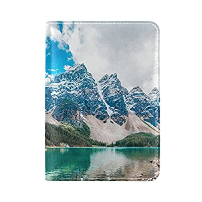 9afe060f68 60%OFF Mountains Peaks Lake Leather Passport Holder Cover Case Travel One  Pocket
