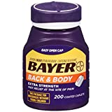 Bayer Aspirin, Back & Body, 500 mg, Coated Tablets, 200 count