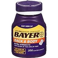Bayer Aspirin, Back & Body, 500 mg, Coated Tablets, 200 count