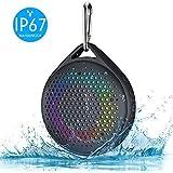 Shower Speaker - AVWOO IP67 Waterproof Bluetooth Speaker, Portable Bluetooth Speaker with Enhanced Bass and Built-in Mic…