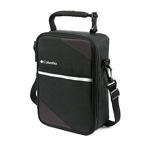 Columbia Northern Trek Upright Lunch Pack with HardBody Liner, Black (Lunch Box Plastic Insert)