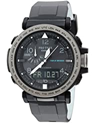 Casio Mens PRO TREK Quartz Resin and Silicone Casual Watch, Color:Black (Model: PRG-650Y-1CR)