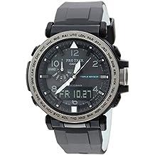 Casio Men's 'PRO TREK' Quartz Resin and Silicone Casual Watch, Color:Black (Model: PRG-650Y-1CR)