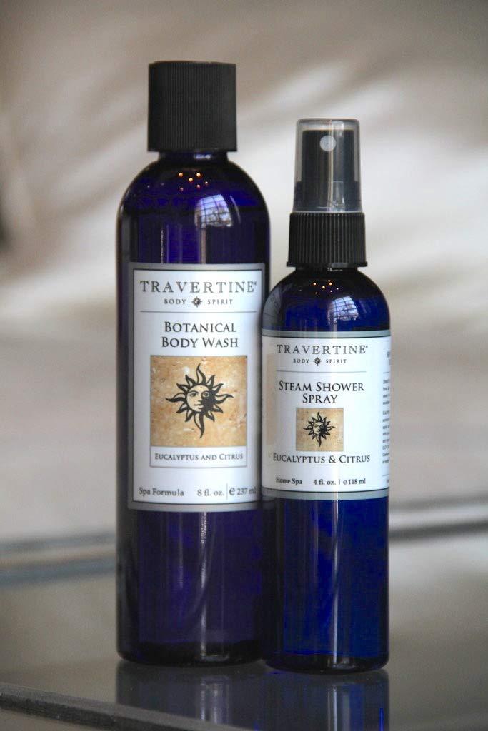 Amazon.com: Travertine Spa Steam Shower Spray, 2 oz.: Beauty