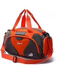 Hit Color Swim Bag Travel Sports Gym Bag Waterproof with Dry Wet Area Shoes Compartment for Women Men