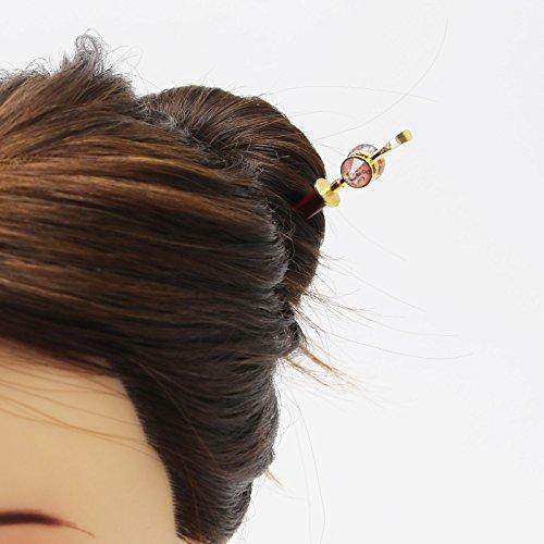 Tamarusan Hair Pin Wooden Plum Green Decoration Removal Hair Stick by TAMARUSAN (Image #4)