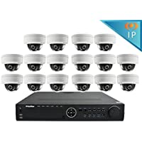 LaView Premium IP 16 Camera Security System Home/Business 16 IP 2MP Dome Cameras 1080P Resolution, 16 Channel 1080P Poe HD NVR with a 3 TB HDD, LV-KND996P1616D16-T3