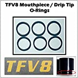 TFV8 Beast Mouthpiece Drip Tip O-Rings Seals Factory Original Material (6 PCS) Made In The USA