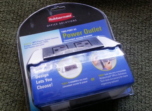 Rubbermaid 2-Port AC Power Outlet 5ft Cord Grounded NEW (Notebooks Laptop Rubbermaid)