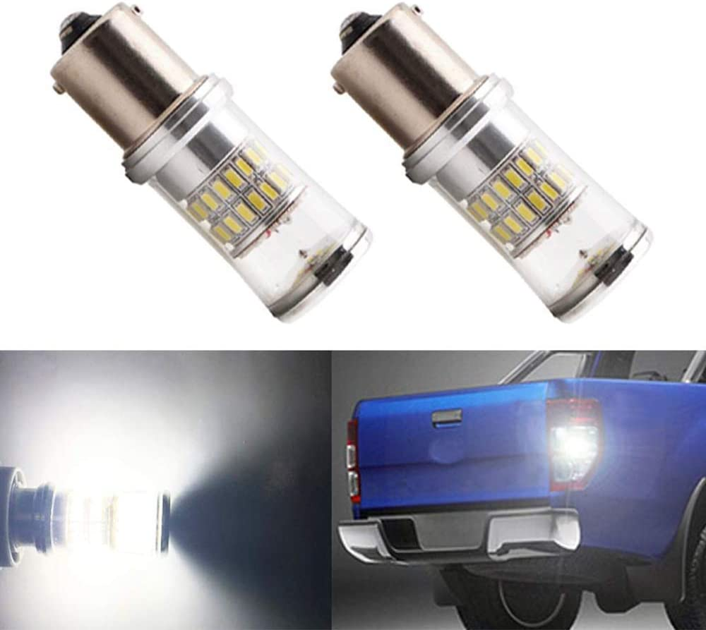 Pack of 2 BlyilyB 9-30V Super Bright LED Bulbs 1141 1156 1003 1073 BA15S 7506 Replacement for RV Camper Interior Indoor Back Up Reverse Brake Tail Lights Xenon White