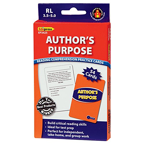 Edupress Reading Comprehension Practice Cards, Author's Purpose, Blue Level (EP63425)