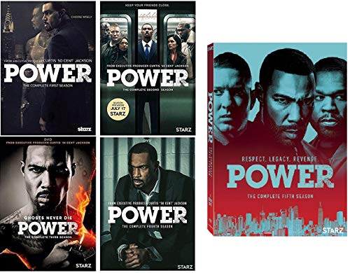 Power The Complete Series Seasons 1-5 DVD (Power Starz Dvd)