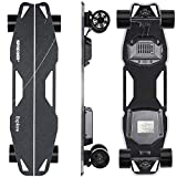 Spadger Electric Skateboard D5X Plus 35'' Electric Longboard Black, 23Mph 900W Dual Motor, 12 Miles Range, Load up to 264Lbs, with Wireless Remote Control & APP Control Bulit-in LED Lights