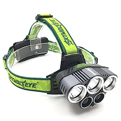 LED Headlamp, Headlight, Rechargeable Lithium-Ion Battery Powered Light (5 Modes) for Camping, Running, Hiking and Outdoor Sports. Waterproof. 1800 Lumens. Rechargeable Batteries Included - Green - 55w Tv