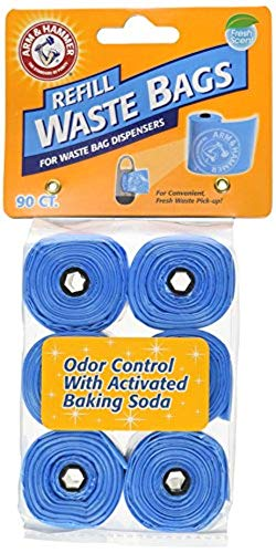 Petmate Arm & Hammer Easy-Tear Disposable Waste Bag Refills Assorted Colors Various Multi-packs Available (Petmate Liner)