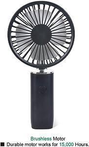 iMMDOKIN Mini Handheld Fan Personal Cooling Fan With 2100mAh USB Rechargeable Battery 4-10 Working Hours Fan 3 Adjustable Wind Speed Folding Small Portable Table Fan For Travel Office Household (Black)