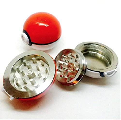 Pokeball Pokemon Herb Spice Grinder Aluminum 3 pc 40mm