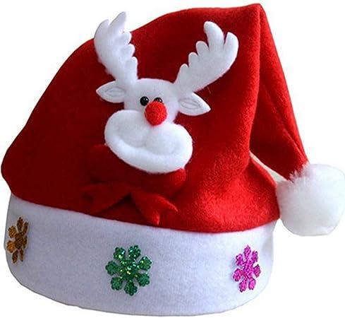 Olgaa 12 confezioni di fasce per capelli con albero di Natale e cappello di Babbo Natale festivit/à accessori per capelli come regalo per Natale Natale