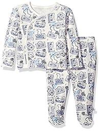Rosie Pope Baby Kimono Set, White/Blue Multi, 3-6 Months