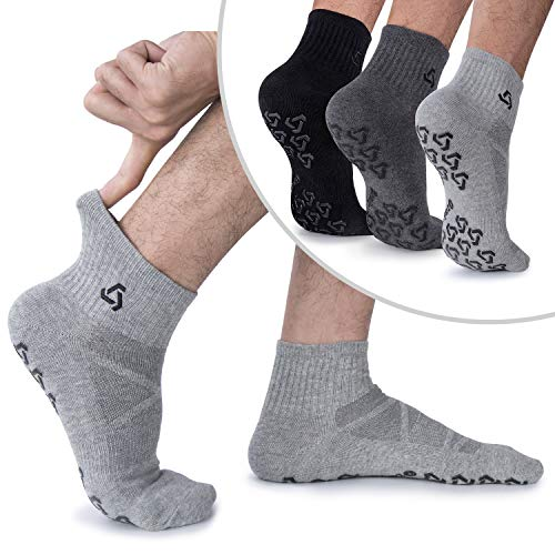 Anti-Skid Socks With Grips Non Slip Socks Ideal For Pilates, Yoga Exercise