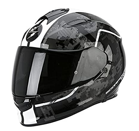 Casco de moto SCORPION Exo 510 Negro/Blanco: Plain: Amazon.es: Coche y moto