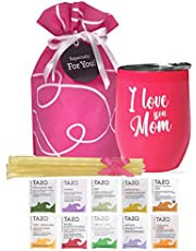 Gifts For Mom - Mom Gifts Tea Set Includes I Love You Mom Insulated Tea Cup 12 Tazo Teas & All Natural Honey | Mom Birthday Gifts or Mothers Day Gifts Presented in Beautiful Gift Bag
