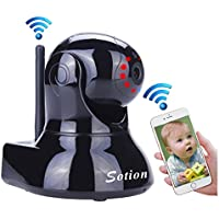 SOTION 960P IP Internet Network WiFi Wireless Home Security Surveillance Video Camera System, Baby and Pet Monitor with Two Way Audio & Night Vision