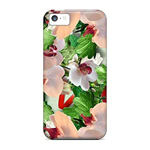 High Quality Shock Absorbing Case For Iphone 5c-roses Butterflies