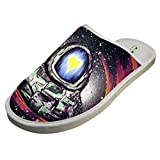 Dreamy Spaceman Winter Slippers Comfy Sandals Flat Shoes Adult Warm Sleeppers 11 B(M) US
