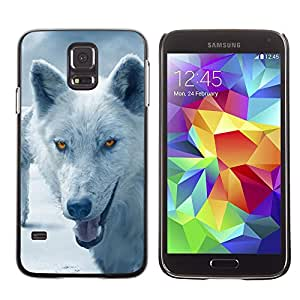 Paccase / SLIM PC / Aliminium Casa Carcasa Funda Case Cover para - Wolf Arctic Winter Furry Canine Beast - Samsung Galaxy S5 SM-G900