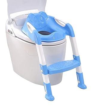 Toilettentrainer Töpfchen Toilettensitz mit Treppe WC Sitz für 1-7 Kinder