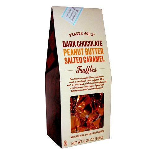 Trader Joes Dark Chocolate Peanut Butter Salted Caramel Truffles - Chocolate Salted Butter