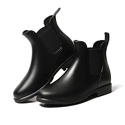 Puzzle Women's Short Rain Boots Glossy Waterproof | Shoes