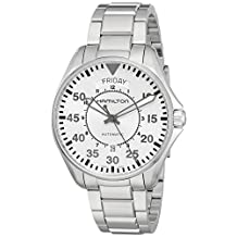 Hamilton Men's H64615155 'Khaki Aviation' Swiss Automatic Stainless Steel Casual Watch