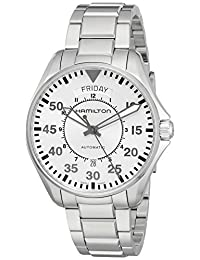 Hamilton Men's H64615155 'Khaki Aviation' Swiss Automatic Stainless Steel Casual Watch