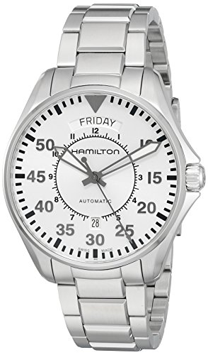 Hamilton Men's 'Khaki Aviation' Swiss Automatic Stainless Steel Casual Watch (Model: H64615155) by Hamilton