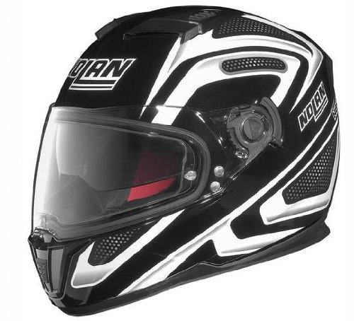 Nolan N-86 Overtaking Non N-Com Helmet , Distinct Name: Black/White, Gender: Mens/Unisex, Helmet Category: Street, Helmet Type: Full-face Helmets, Primary Color: Black, Size: Sm N8R5277930345