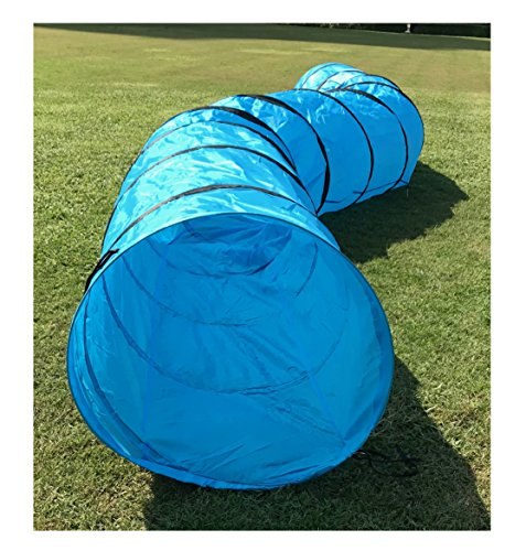 furryfriends 18 foot long, 2 foot wide opening, premium pet agility tunnel, outdoor training and exercise equipment for dogs, puppies and other animals